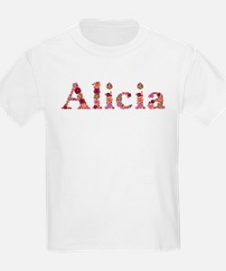 Alicia Pink Flowers T-Shirt