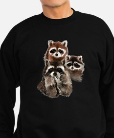Cute Watercolor Raccoon Animal Family Sweatshirt