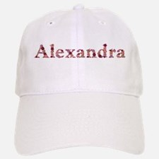 Alexandra Pink Flowers Baseball Baseball Baseball Cap