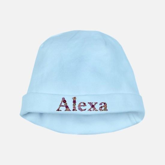 Alexa Pink Flowers baby hat