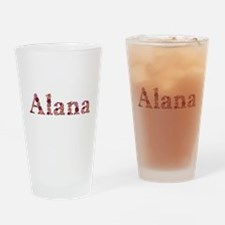 Alana Pink Flowers Drinking Glass
