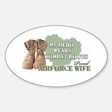 My Hero Wears Combat Boots-Ai Oval Decal