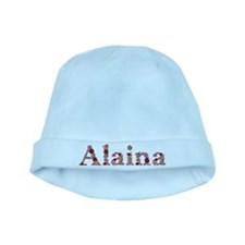 Alaina Pink Flowers baby hat