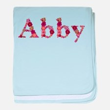Abby Pink Flowers baby blanket