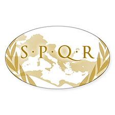 Roman Empire Banner SPQR Decal