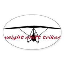 weight shift trike headon Decal