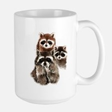 Cute Watercolor Raccoon Animal Family Mugs