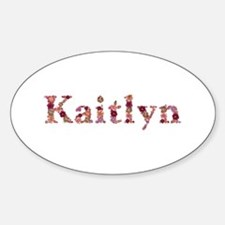Kaitlyn Pink Flowers Oval Decal