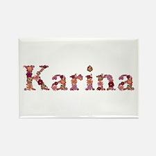 Karina Pink Flowers Rectangle Magnet