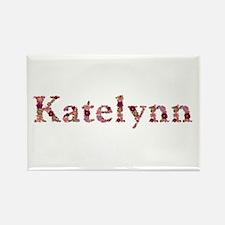 Katelynn Pink Flowers Rectangle Magnet