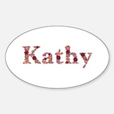 Kathy Pink Flowers Oval Decal
