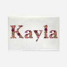 Kayla Pink Flowers Rectangle Magnet