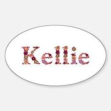 Kellie Pink Flowers Oval Decal