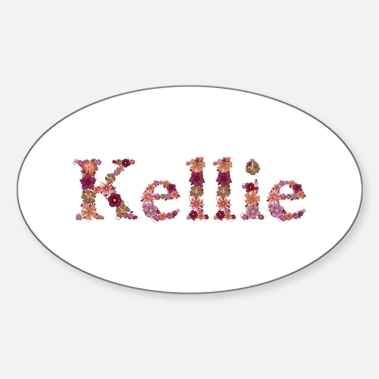 Kellie Pink Flowers Oval Decal