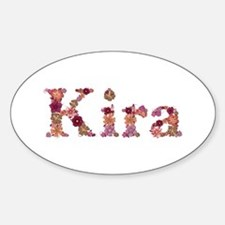 Kira Pink Flowers Oval Decal