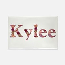 Kylee Pink Flowers Rectangle Magnet