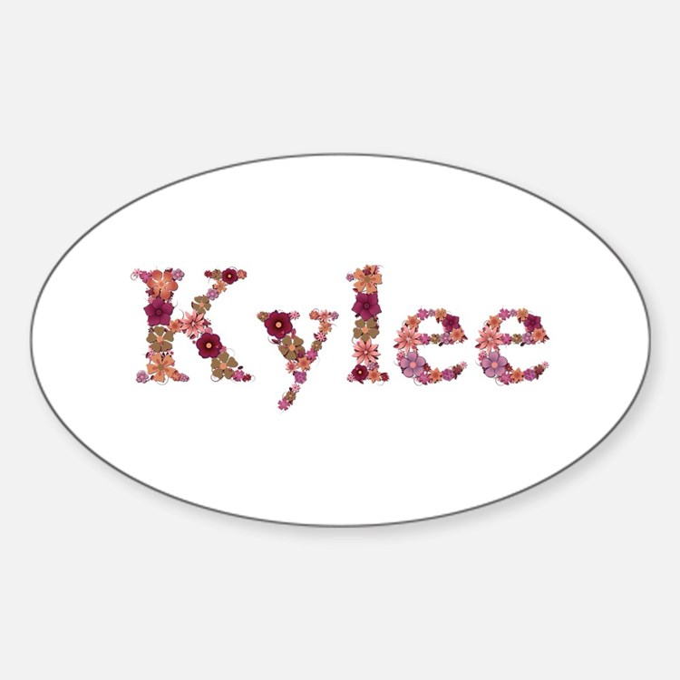 Kylee Pink Flowers Oval Decal