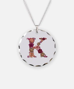 K Pink Flowers Necklace