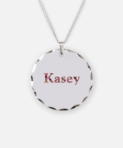 Kasey Pink Flowers Necklace