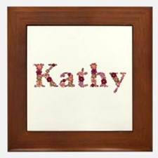 Kathy Pink Flowers Framed Tile