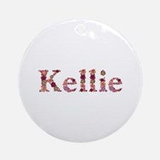 Kellie Pink Flowers Round Ornament