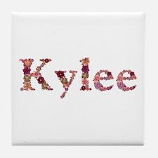 Kylee Pink Flowers Tile Coaster
