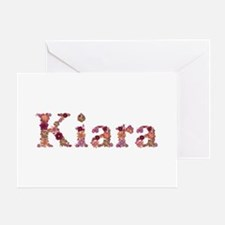 Kiara Pink Flowers Greeting Card