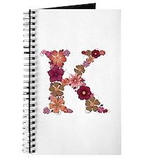 K Pink Flowers Journal