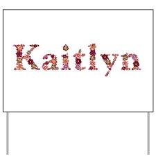Kaitlyn Pink Flowers Yard Sign