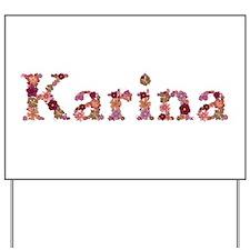 Karina Pink Flowers Yard Sign
