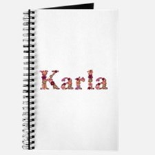 Karla Pink Flowers Journal