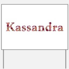Kassandra Pink Flowers Yard Sign