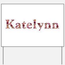 Katelynn Pink Flowers Yard Sign