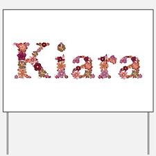 Kiara Pink Flowers Yard Sign