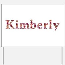 Kimberly Pink Flowers Yard Sign
