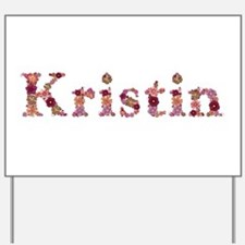 Kristin Pink Flowers Yard Sign