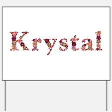 Krystal Pink Flowers Yard Sign
