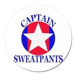 Captain Sweatpants Round Car Magnet