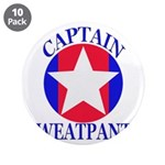 "Captain Sweatpants 3.5"" Button (10 pack)"