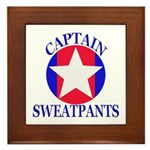 Captain Sweatpants Framed Tile