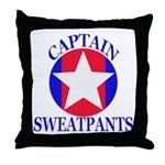 Captain Sweatpants Throw Pillow
