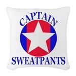 Captain Sweatpants Woven Throw Pillow