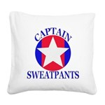 Captain Sweatpants Square Canvas Pillow