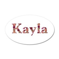 Kayla Pink Flowers Wall Decal