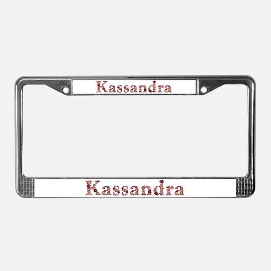 Kassandra Pink Flowers License Plate Frame