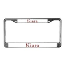 Kiara Pink Flowers License Plate Frame