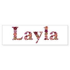 Layla Pink Flowers Bumper Bumper Sticker