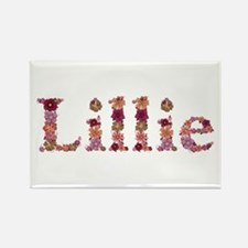 Lillie Pink Flowers Rectangle Magnet