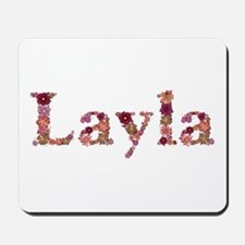 Layla Pink Flowers Mousepad