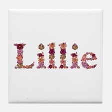 Lillie Pink Flowers Tile Coaster